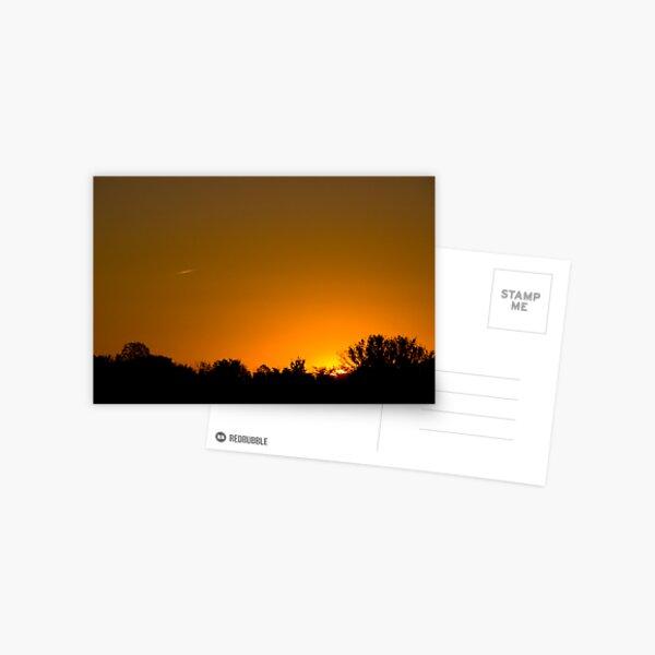 Sunny Skies Airliner Postcard
