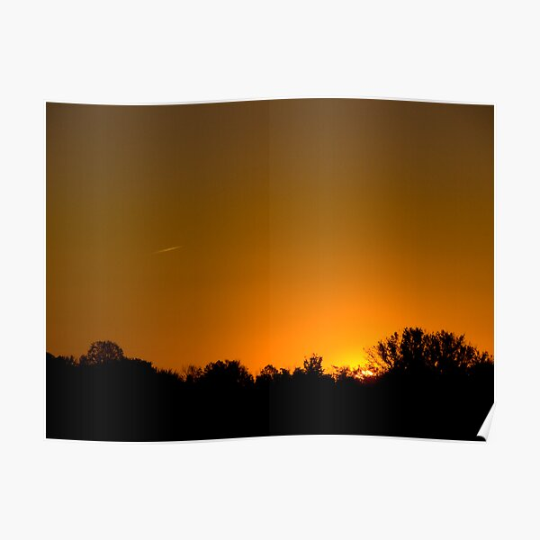 Sunny Skies Airliner Poster