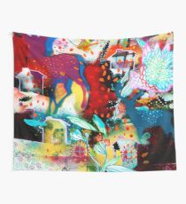 the nordic summer night Wall Tapestry