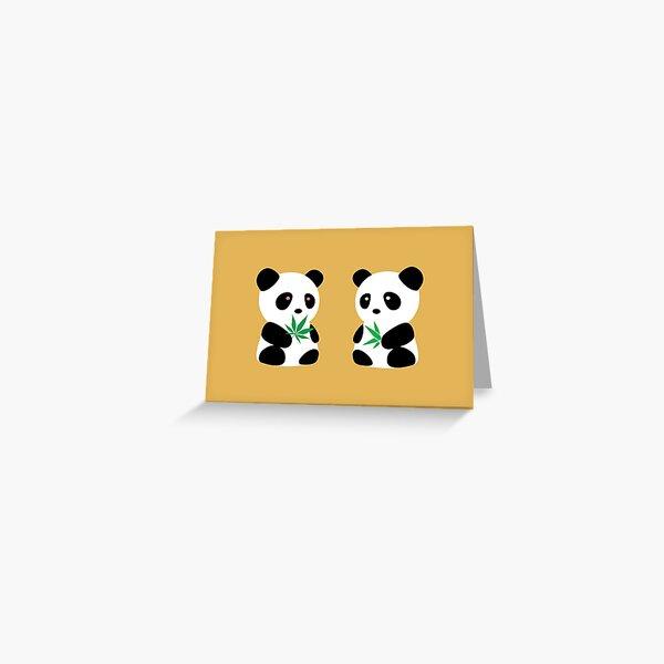 Two Pandas Greeting Card
