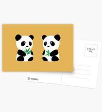 Two Pandas Postcards
