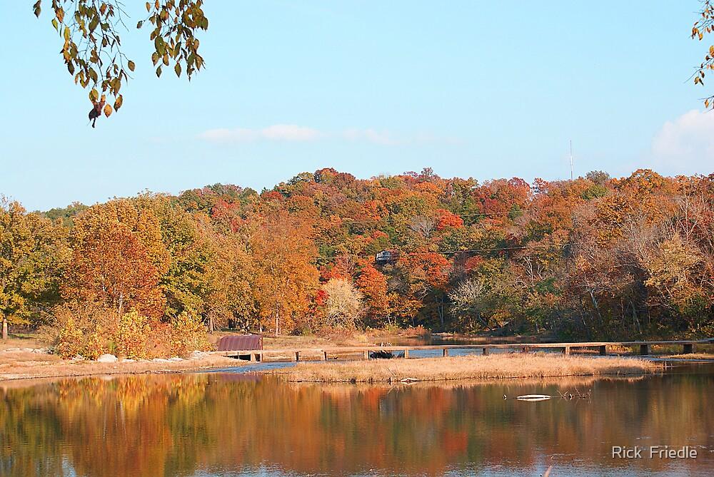 Autumn Bridge by Rick  Friedle