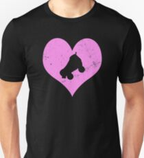 Love Roller Derby Pink Heart T-Shirt