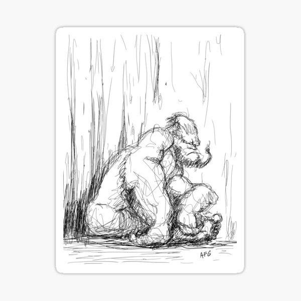 Inktober 2017 Day 17 - Gorilla Sticker