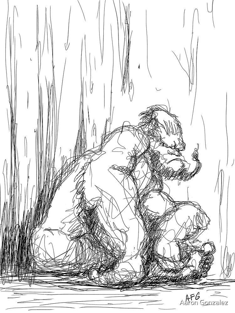 Inktober 2017 Day 17 - Gorilla by Aaron Gonzalez