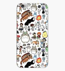 Vinilo o funda para iPhone Kawaii Ghibli Doodle