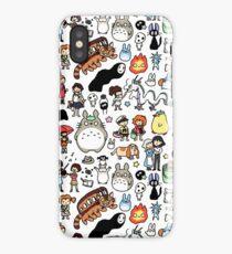 Kawaii Ghibli Doodle iPhone Case