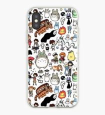 Kawaii Ghibli Doodle iPhone Case
