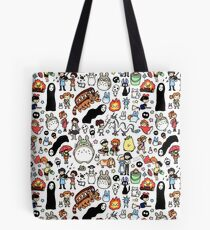Bolsa de tela Kawaii Ghibli Doodle
