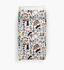 Kawaii Ghibli Doodle Duvet Cover
