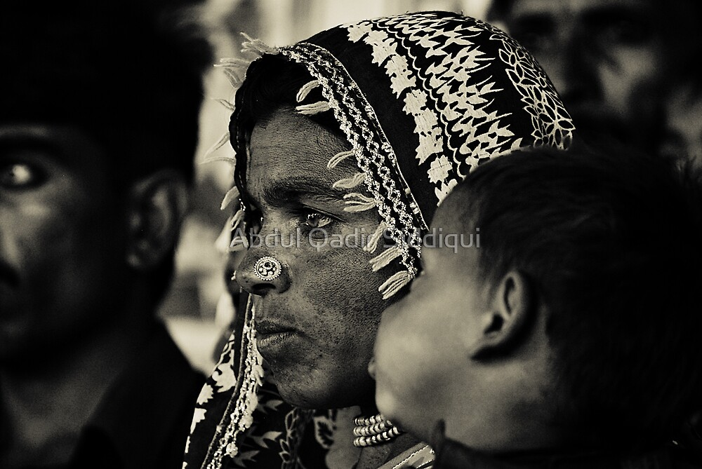 Mother and Child by Abdul Qadir Siddiqui
