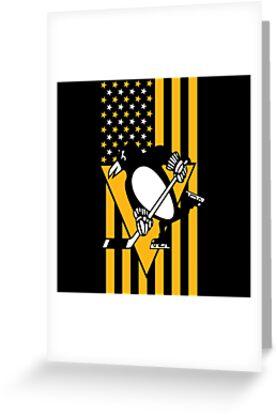 Pittsburgh Penguins American Flag by dodolandesign