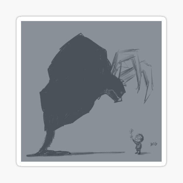 Inktober 2017 Day 19 - Demon and Kid with Flower Sticker