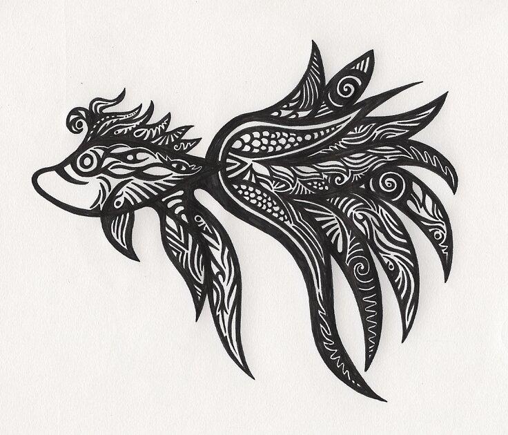 blue fish by eryssie