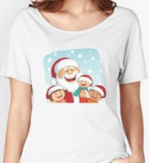 Santa and Kids Women's Relaxed Fit T-Shirt