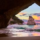 Cathedral Cove Sings by Adam Gormley