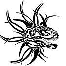 Tribal Dinosaur by redqueenself
