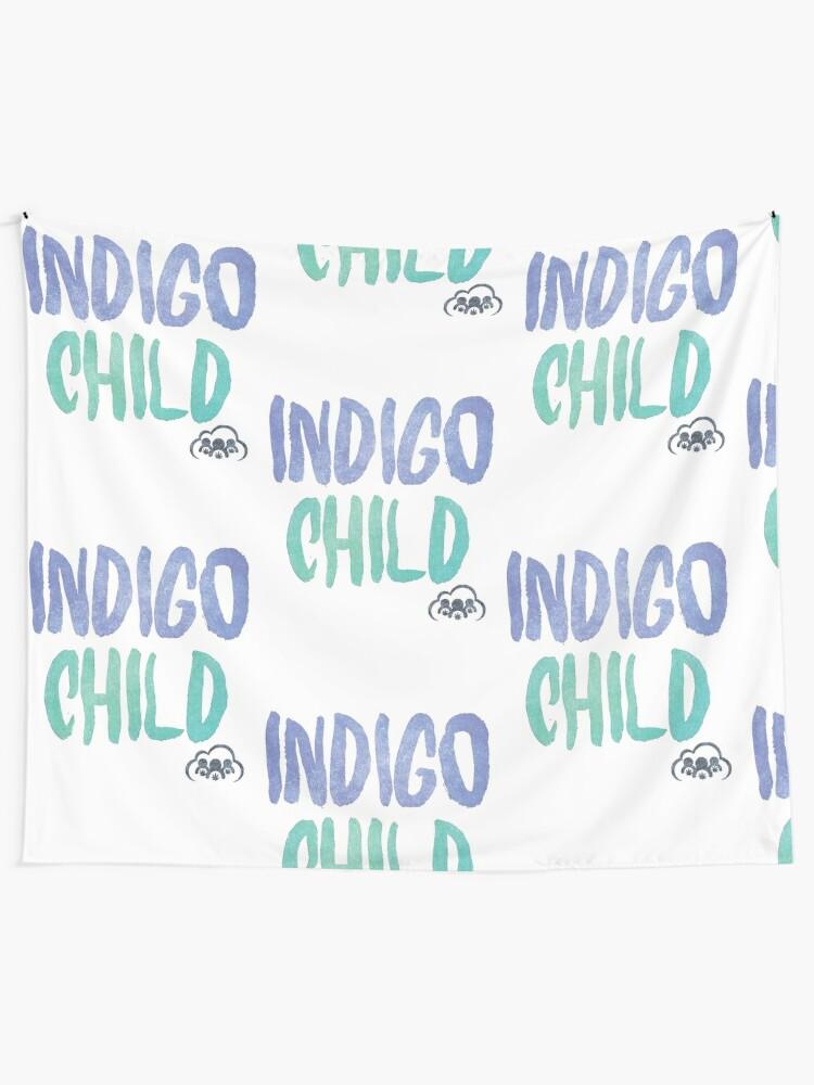 Alternate view of Indigo Child Tapestry