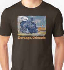 Durango Colorado, Durango Silverton Steam Train Railway T-Shirt