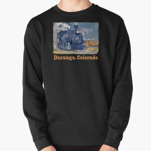 Durango Colorado, Durango Silverton Steam Train Railway Pullover Sweatshirt