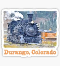 Durango Colorado, Durango Silverton Steam Train Railway Sticker