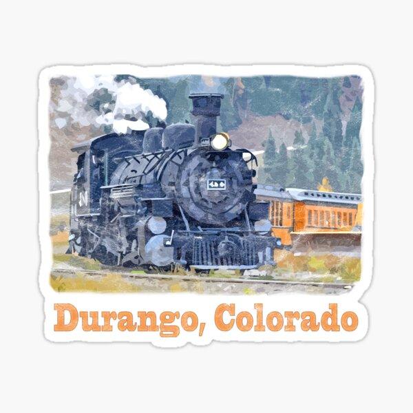 Durango Colorado, Durango Silverton Steam Train Railway Sticker