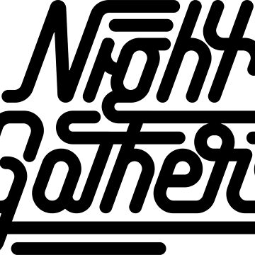 Night Gathers - Black Print by nightgathers