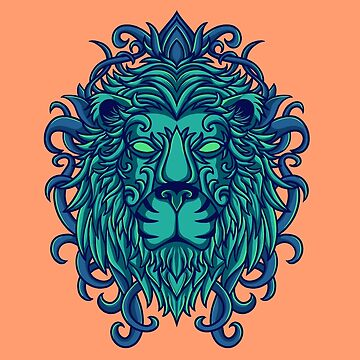 floral lion by motymotymoty