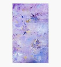 Lavender Clouds with Leaves Photographic Print