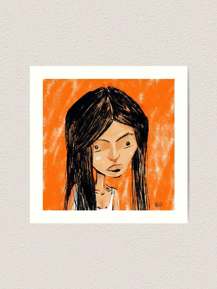 Alternate view of Orange Girl Art Print