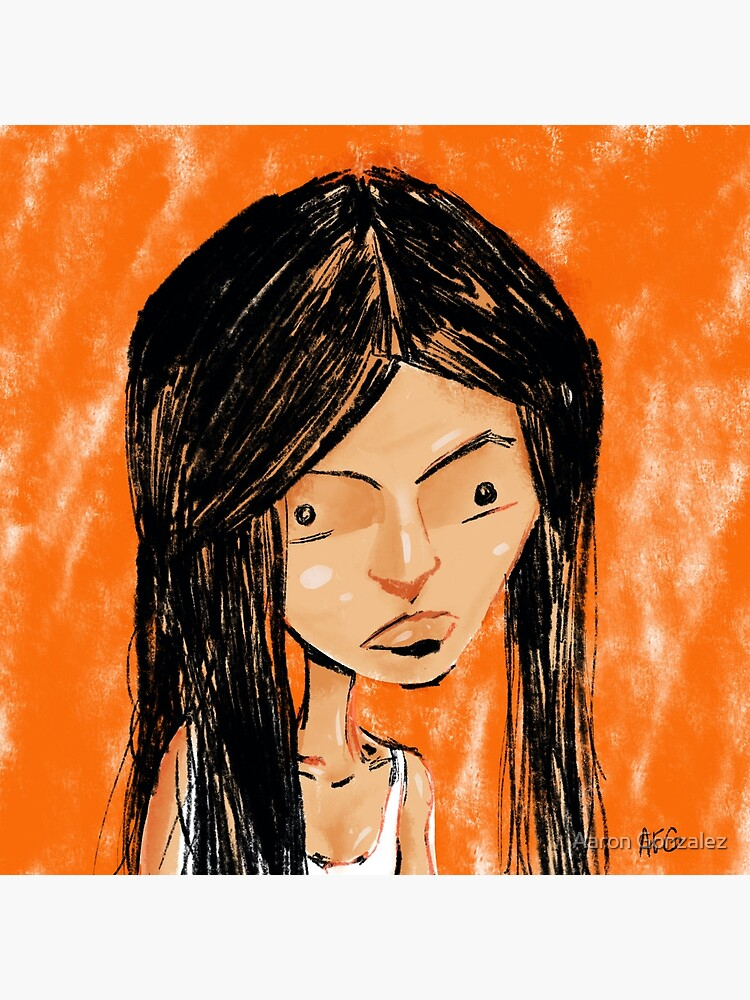 Orange Girl by aaronfg