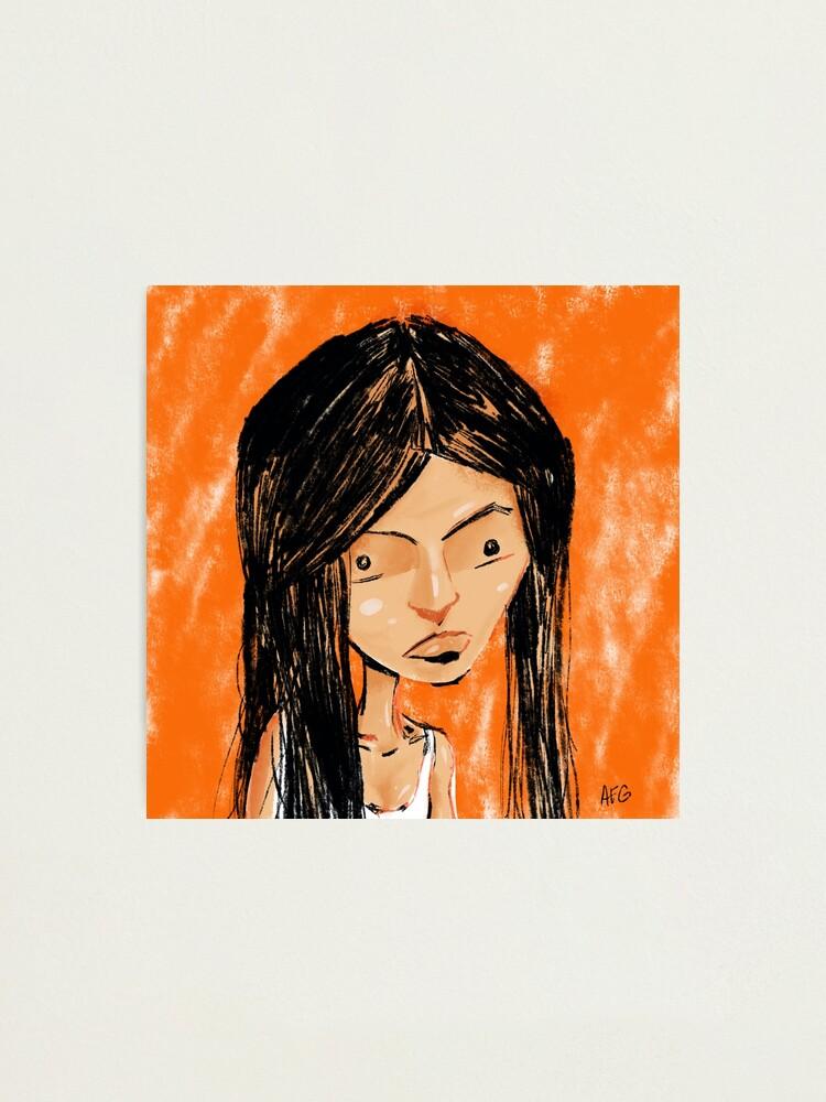 Alternate view of Orange Girl Photographic Print