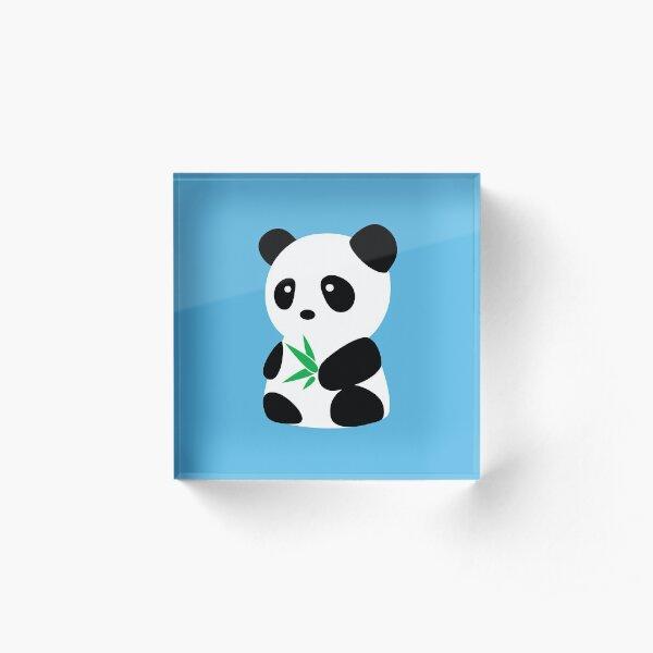 Panda with bamboo Acrylic Block