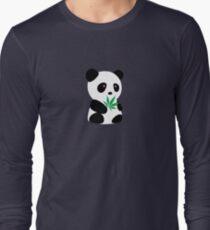 "Panda with ""recreational bamboo"" Long Sleeve T-Shirt"