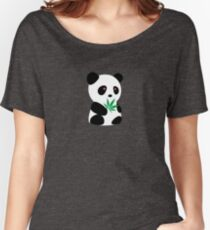 "Panda with ""recreational bamboo"" Women's Relaxed Fit T-Shirt"
