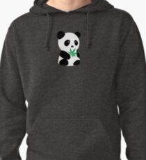"""Panda with """"recreational bamboo"""" Pullover Hoodie"""