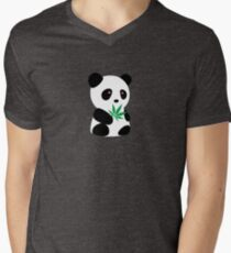 "Panda with ""recreational bamboo"" Men's V-Neck T-Shirt"