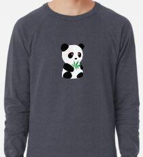 "Panda with ""recreational bamboo"" Lightweight Sweatshirt"