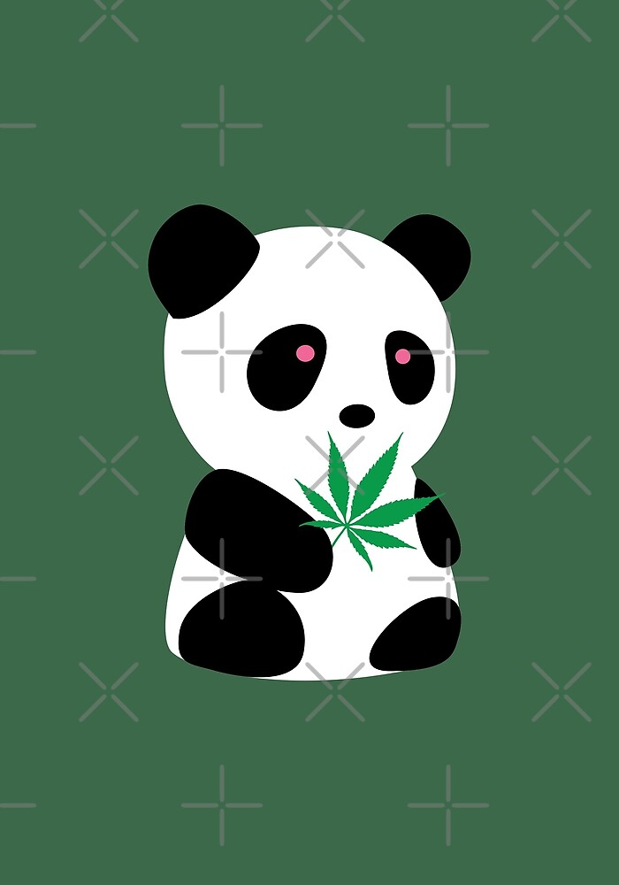 """Panda with """"recreational bamboo"""" by Localist"""