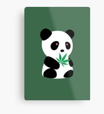 "Panda with ""recreational bamboo"" Metal Print"