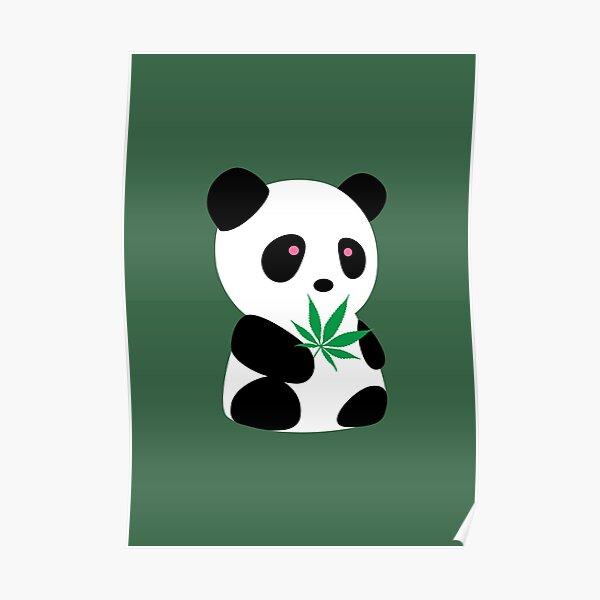 "Panda with ""recreational bamboo"" Poster"