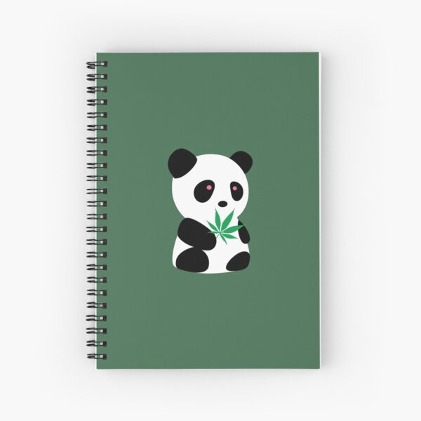 "Panda with ""recreational bamboo"" Spiral Notebook"