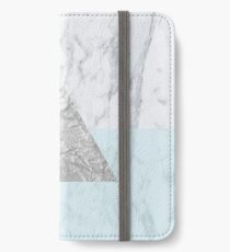 Marble Triangle Blue iPhone Wallet/Case/Skin