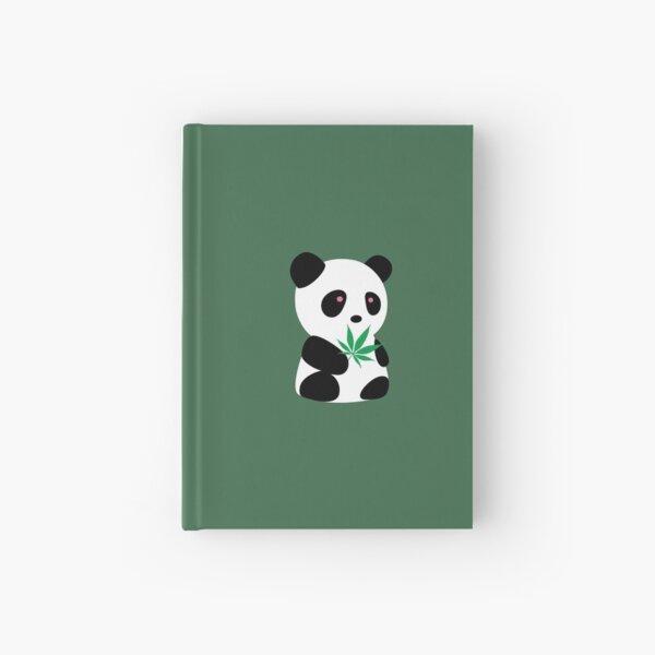 "Panda with ""recreational bamboo"" Hardcover Journal"