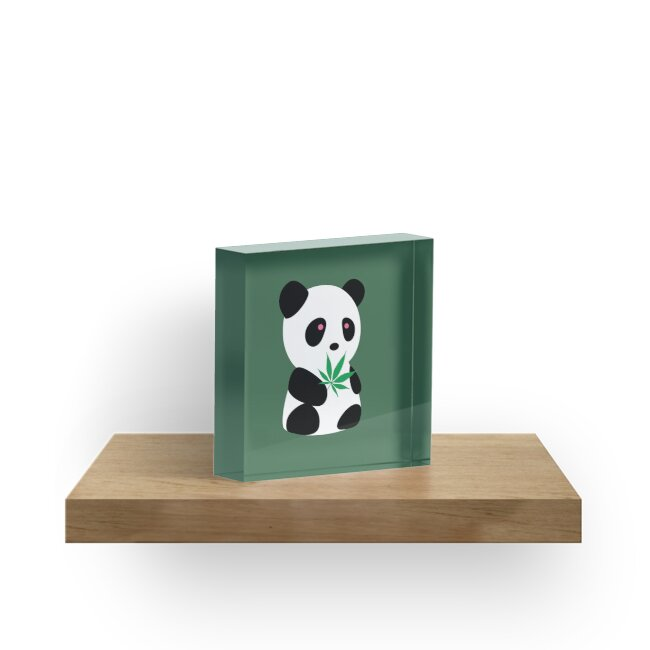 "Panda with ""recreational bamboo"" by Localist"