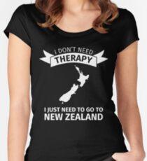 Camiseta entallada de cuello redondo nueva Zelandia