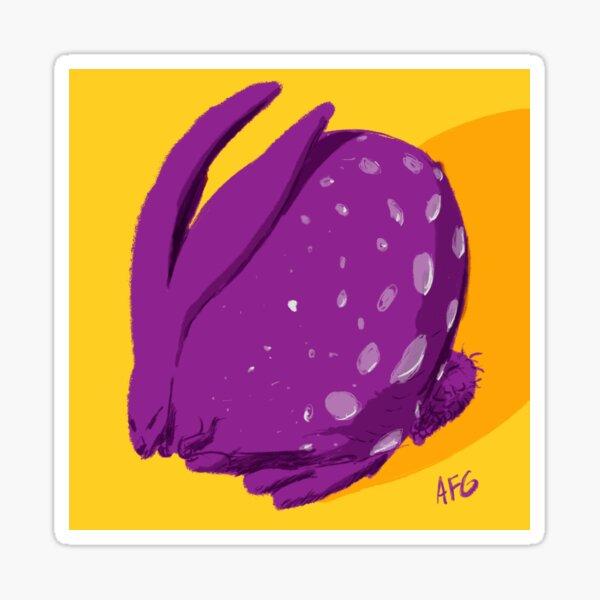 Purple Polka Dot Rabbit Sticker