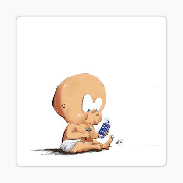 Baby Boy Shaving Sticker