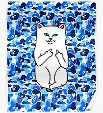 blue camo ripndip Poster