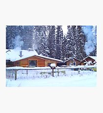 Our Cabin In The Woods...Winter Photographic Print